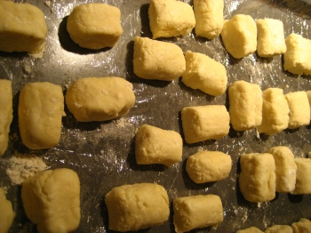 Gnudi before cooking